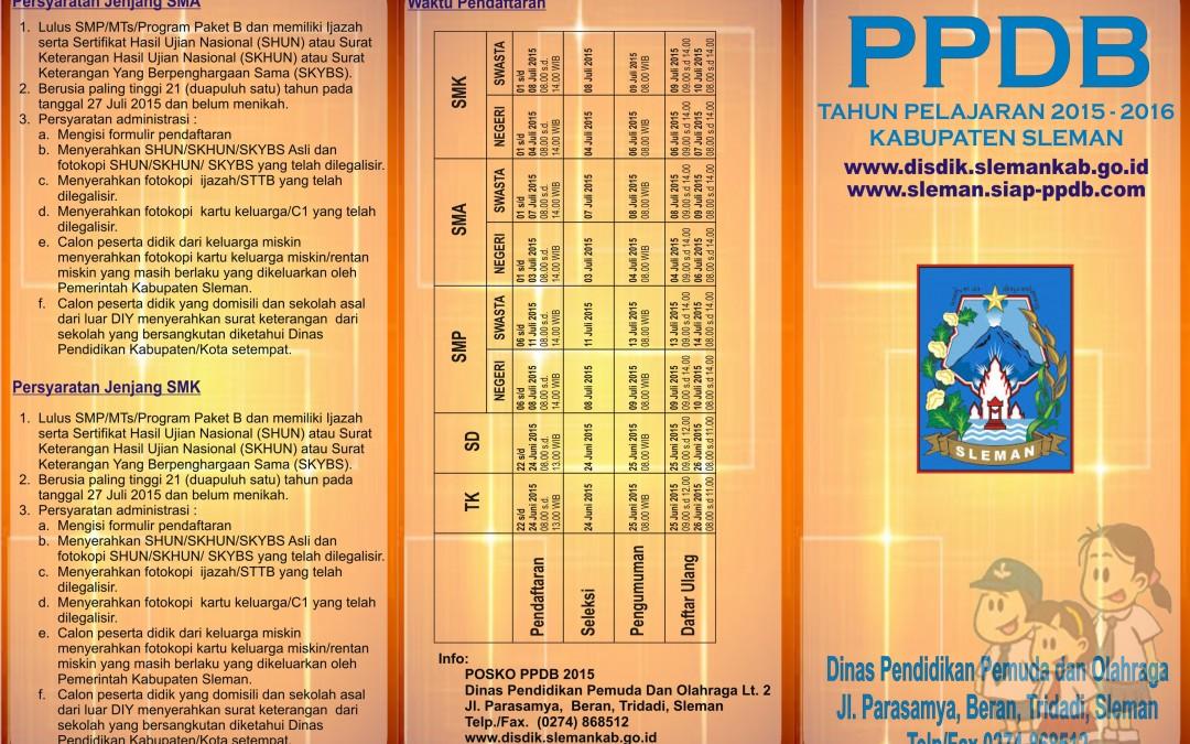 PPDB ( Penerimaan Peserta Didik Baru ) SMA N 2 Sleman 2015